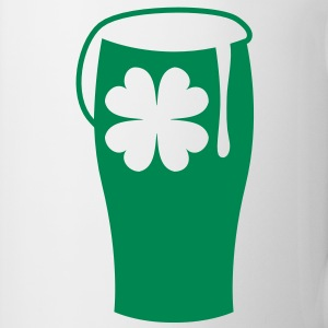 a green shamrock beer glass single color Bottles & Mugs - Coffee/Tea Mug