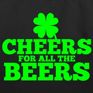 CHEERS for all the BEERS! with a shamrock Bags  - Eco-Friendly Cotton Tote