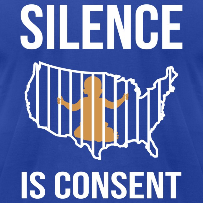 Silence is Consent Babies in USA Cages Mens Jersey T-shirt