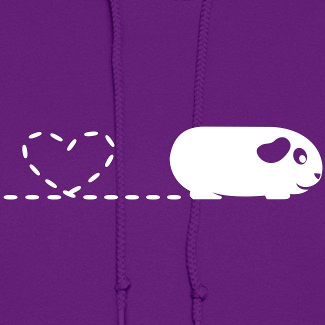 'Pooping Heart' Guinea Pig Ladies Hoodie