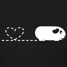 'Pooping Heart' Guinea Pig Ladies T-Shirt 2