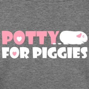 'Potty for Piggies' Ladies Sweatshirt - Women's Wideneck Sweatshirt