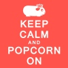 'Keep Calm & Popcorn On' Ladies Vest/Tank Top - Women's Flowy Tank Top by Bella