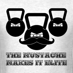 Elite Mustache Kettlebell - Men's T-Shirt