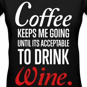 Wine Women's T-Shirts - Women's V-Neck T-Shirt