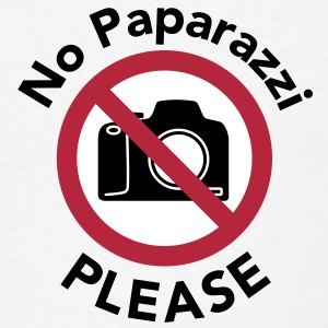 No Paparazzi Please - Men's T-Shirt