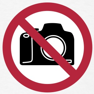 No Photography Sign T-Shirts - Men's T-Shirt