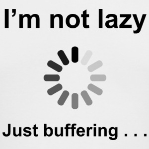 I'm Not Lazy - Just Buffering (Black) Long Sleeve  - Men's Long Sleeve T-Shirt by Next Level