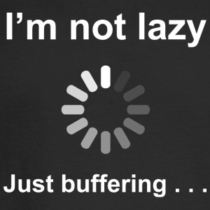 I'm Not Lazy - Just Buffering (white) Long Sleeve  - Men's Long Sleeve T-Shirt