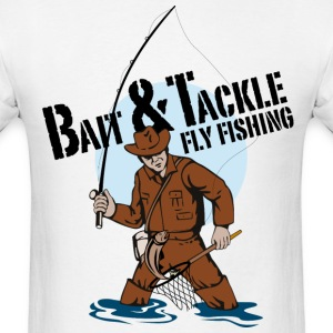 Bait & Tackle Fly Fishing - Men's T-Shirt