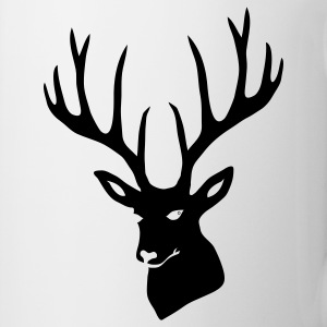 stag night deer buck antler hart cervine elk  Bottles & Mugs - Coffee/Tea Mug