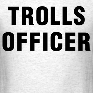 trolls officer - Men's T-Shirt