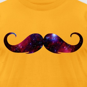 Universe Moustache T-Shirts - Men's T-Shirt by American Apparel