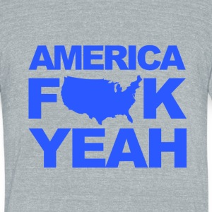 American F YEAH - Unisex Tri-Blend T-Shirt by American Apparel
