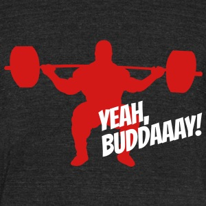Yeah, Buddaaay! (Heather Black) - Unisex Tri-Blend T-Shirt by American Apparel