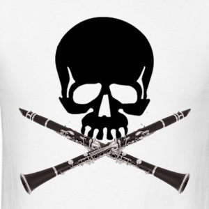 Skull with Clarinets - Men's T-Shirt