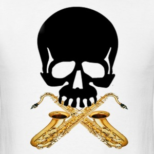 Skull with Saxophones - Men's T-Shirt