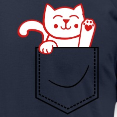 kitty in pocket T-Shirts