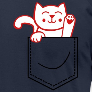 kitty in pocket T-Shirts - Men's T-Shirt by American Apparel