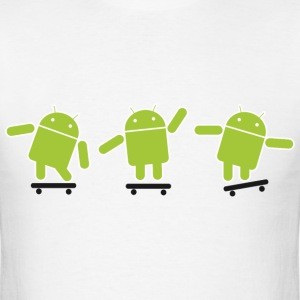 Android Skate Lime T-Shirts - Men's T-Shirt