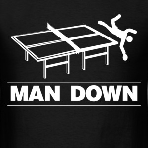 man down funny table tennis - Men's T-Shirt