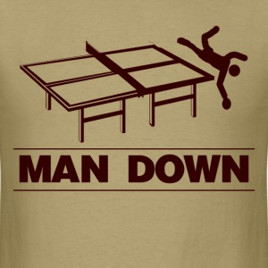 funny man down pingpong - Men's T-Shirt