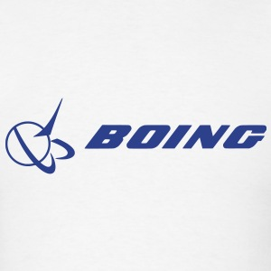BOING - Blue text - Men's T-Shirt