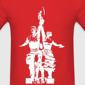 Worker and Kolkhoz Woman Soviet Monument T-shirt V - Men's T-Shirt