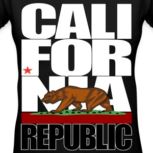 california republic Women's T-Shirts - Women's V-Neck T-Shirt