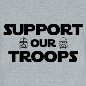 Support our troops - Unisex Tri-Blend T-Shirt by American Apparel