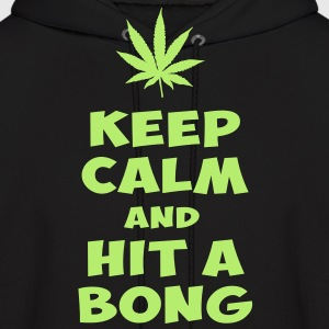 KEEP CALM AND HIT A BONG - Men's Hoodie