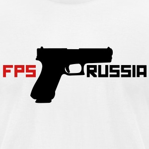 FPS Russia Gun MP T-Shirts - Men's T-Shirt by American Apparel