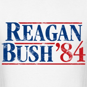 Distressed Reagan - Bush '84 - Men's T-Shirt