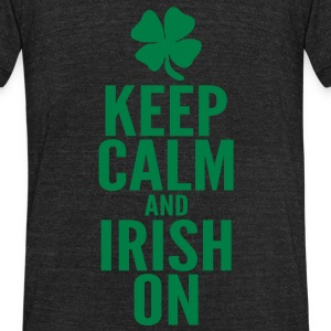 Keep Calm and Irish On T-Shirts - Unisex Tri-Blend T-Shirt by American Apparel