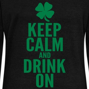 Keep Calm and Drink On Long Sleeve Shirts - Women's Wideneck Sweatshirt