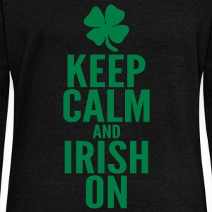 Keep Calm and Irish On Long Sleeve Shirts - Women's Wideneck Sweatshirt