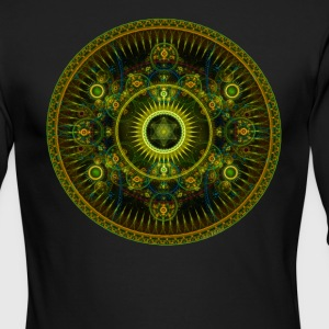Metatron's Magick Wheel ~ Sacred Geometry - Men's Long Sleeve T-Shirt by Next Level
