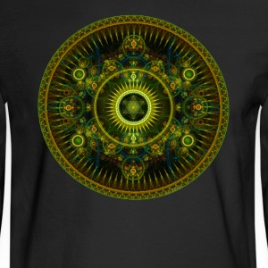 Metatron's Magick Wheel ~ Sacred Geometry - Men's Long Sleeve T-Shirt