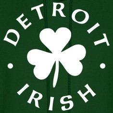Detroit Irish white Hoodies