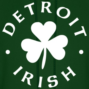 Detroit Irish white Hoodies - Men's Hoodie