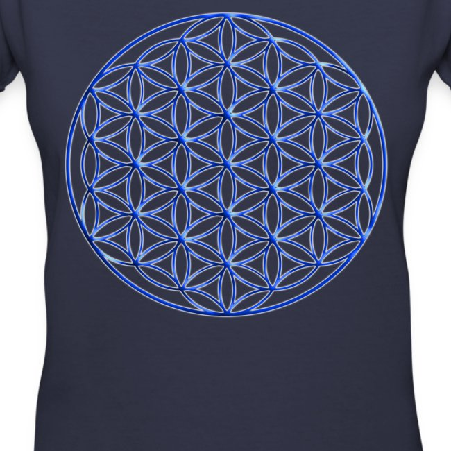 Art Designs By Leah Mcneir Blue Flower Of Life Sacred Geometry