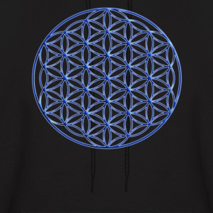 Blue Flower of Life - Sacred Geometry Symbol - Men's Hoodie