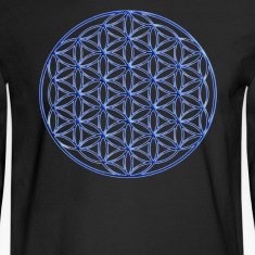 Blue Flower of Life - Sacred Geometry Symbol