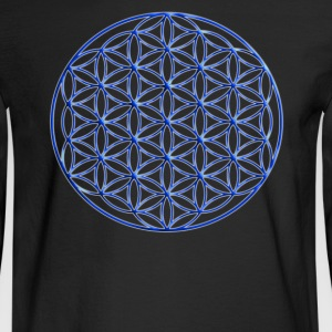 Blue Flower of Life - Sacred Geometry Symbol - Men's Long Sleeve T-Shirt