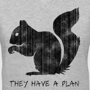 Squirrels: They Have A Plan - Women's V-Neck T-Shirt