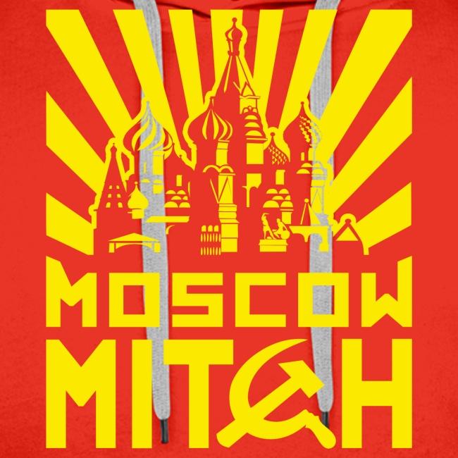Moscow Mitch Kremlin Poster Mens Red Premium Hoodie