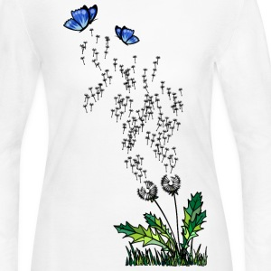 'Dandelion' Women's Long Sleeve Jersey T-Shirt - Women's Long Sleeve Jersey T-Shirt