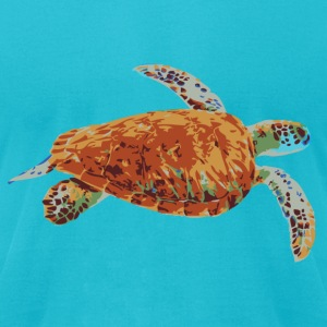 Sea Turtle - Men's T-Shirt by American Apparel