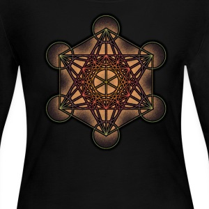 Metatron's Cube - Sacred Geometry Symbol - Women's Long Sleeve Jersey T-Shirt