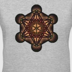 Metatron's Cube - Sacred Geometry Symbol - Women's V-Neck T-Shirt